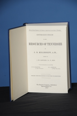 INTRODUCTION TO THE RESOURCES OF TENNESSEE. Joseph B. Killebrew.