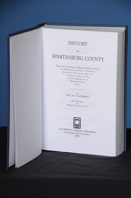 HISTORY OF SPARTANBURG COUNTY. John B. O. Landrum.