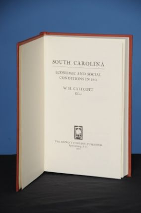 SOUTH CAROLINA: ECONOMIC AND SOCIAL CONDITIONS IN 1944