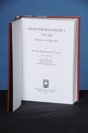 ORANGEBURGH DISTRICT, 1768-1868, History and Records
